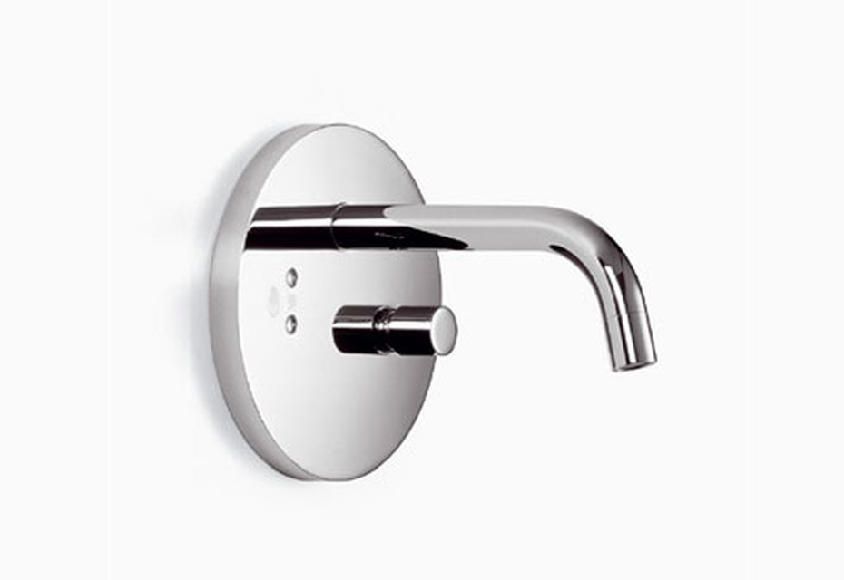 eMote Wall-mounted infrared basin mixer with mixing button round