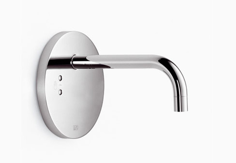 eMote Wall-mounted infrared basin mixer without mixing button round