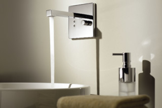eTech Wall-mounted infrared basin mixer with mixing button square  by  Dornbracht