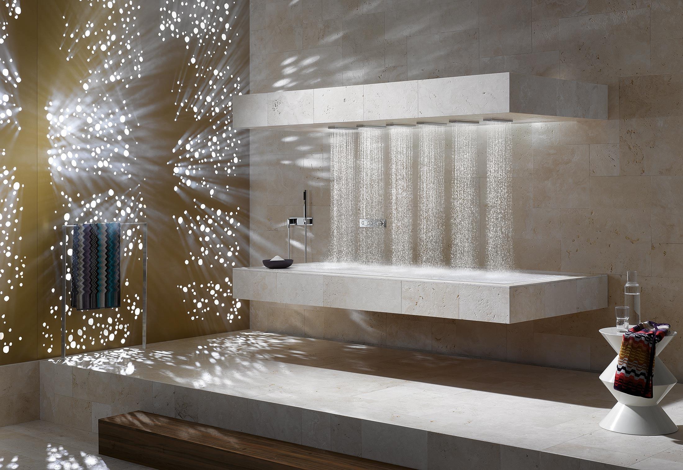 horizontal shower von dornbracht stylepark. Black Bedroom Furniture Sets. Home Design Ideas