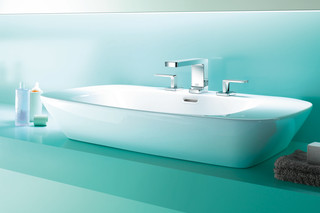 Lulu three-hole basin mixer with individual rosettes  by  Dornbracht