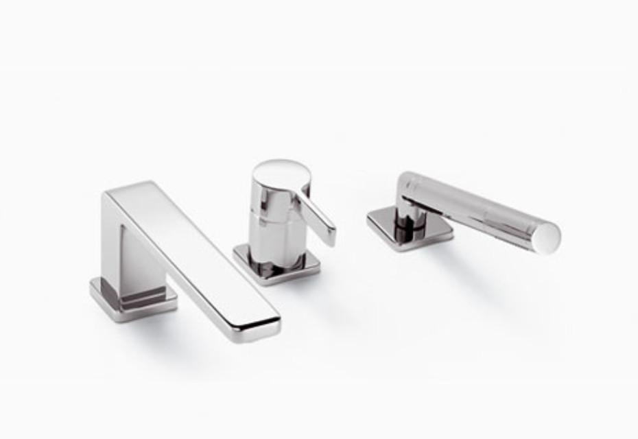 LULU Wannen-Dreiloch-Einhandbatterie für Wannenrandmontage