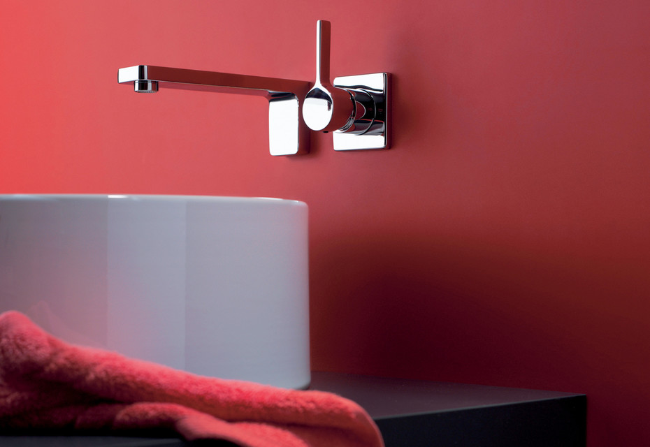 LULU Wall-mounted single-lever basin mixer