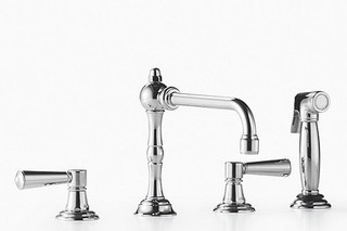 Madison Three-hole mixer with rinsing spray set  by  Dornbracht