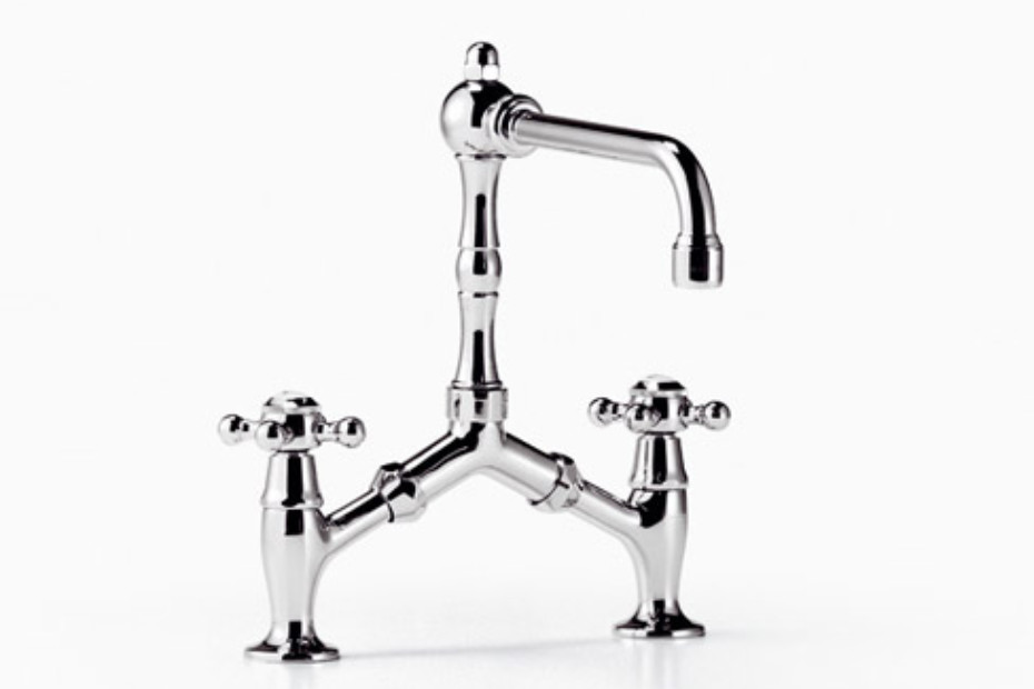 Madison Two-hole bridge mixer with cross handles by Dornbracht ...