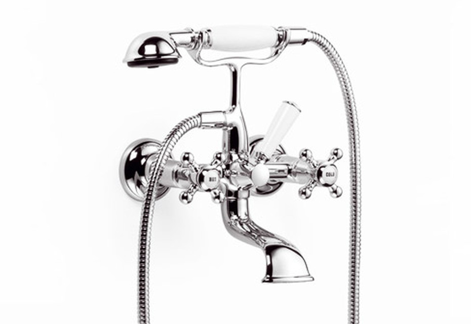 Madison Wall-mounted bath mixer with/without shower set