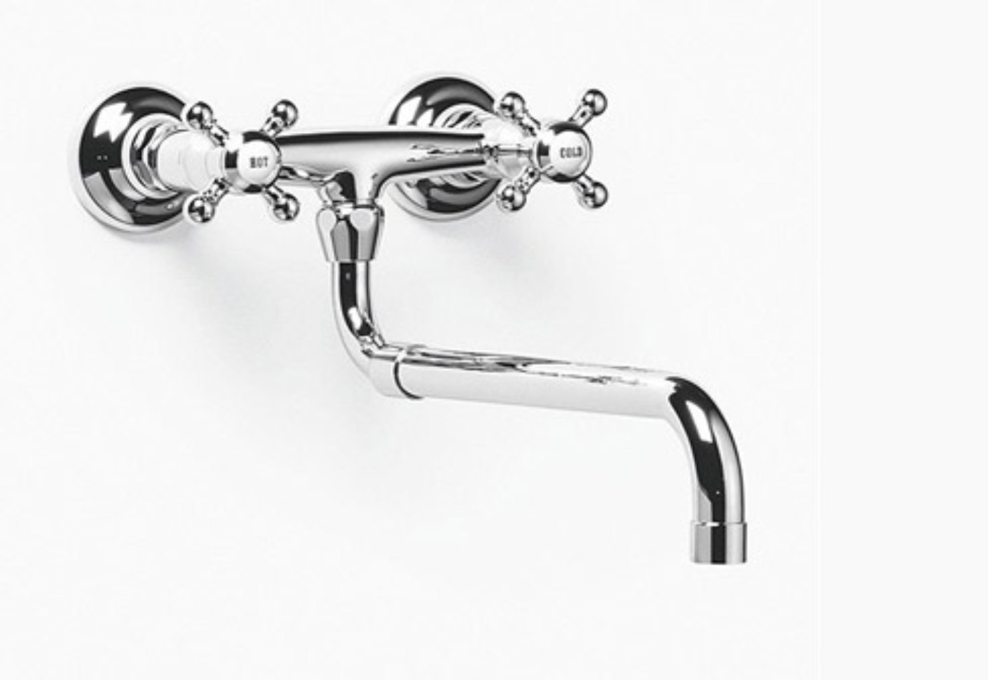 Madison Wall-mounted bridge mixer with extendible spout by ...