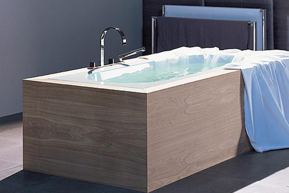 MEM deck-mounted bath shower set, one piece