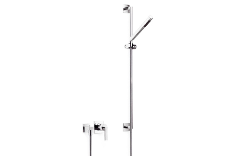 MEM Wall-mounted single-lever shower mixer with shower set