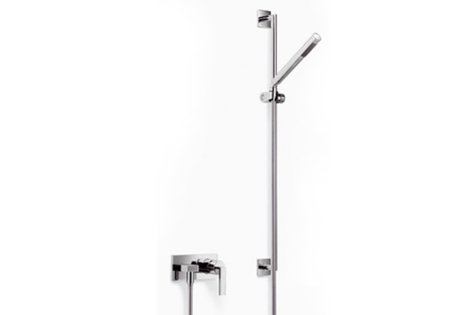 MEM Wall-mounted single-lever shower mixer with shower set by ...