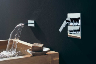 MEM Wall-mounted waterfall bath spout  by  Dornbracht