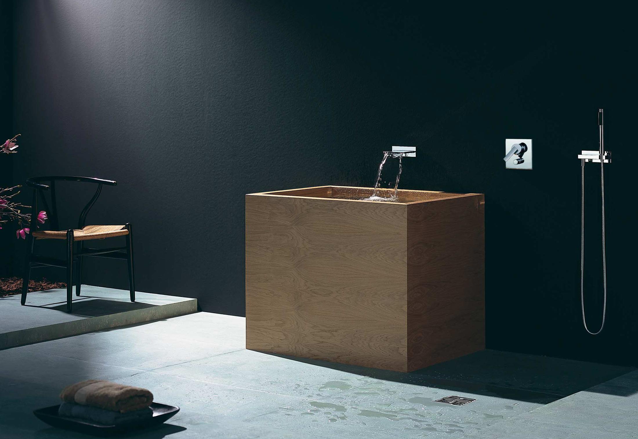 MEM Wall-mounted waterfall bath spout by Dornbracht | STYLEPARK