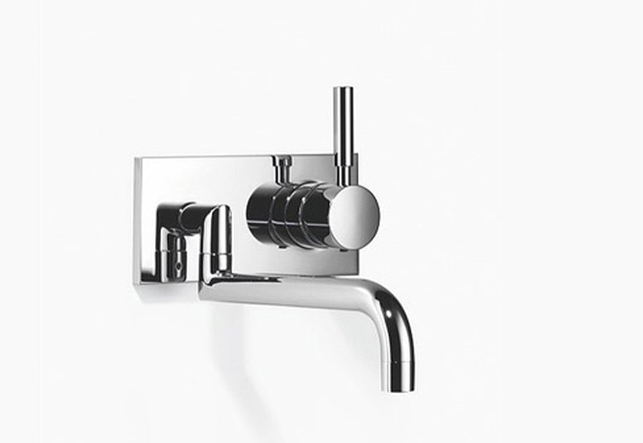 Meta.02 Meta.02 Wall-mounted mixer with extendible spout and individual rosettes