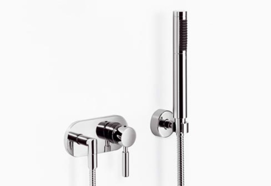 Meta.02 Single-lever shower mixer with shower set, two pieces
