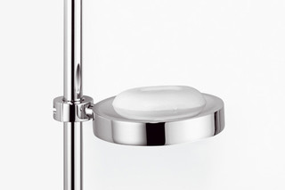 Meta.02 soap dish for subsequent mounting on riser  by  Dornbracht