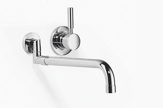 Meta.02 Wall-mounted mixer with extendible spout and individual rosettes  by  Dornbracht