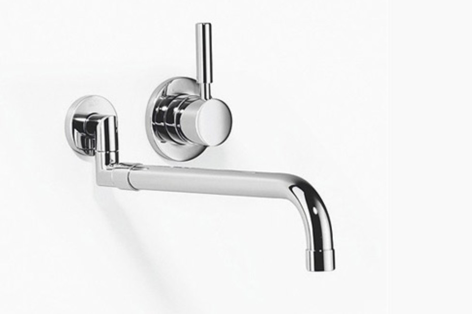Meta.02 Wall-mounted mixer with extendible spout and individual rosettes