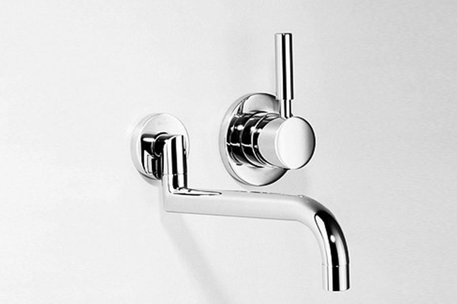 Meta.02 wall-mounted single-lever basin mixer, pivotable, two pieces