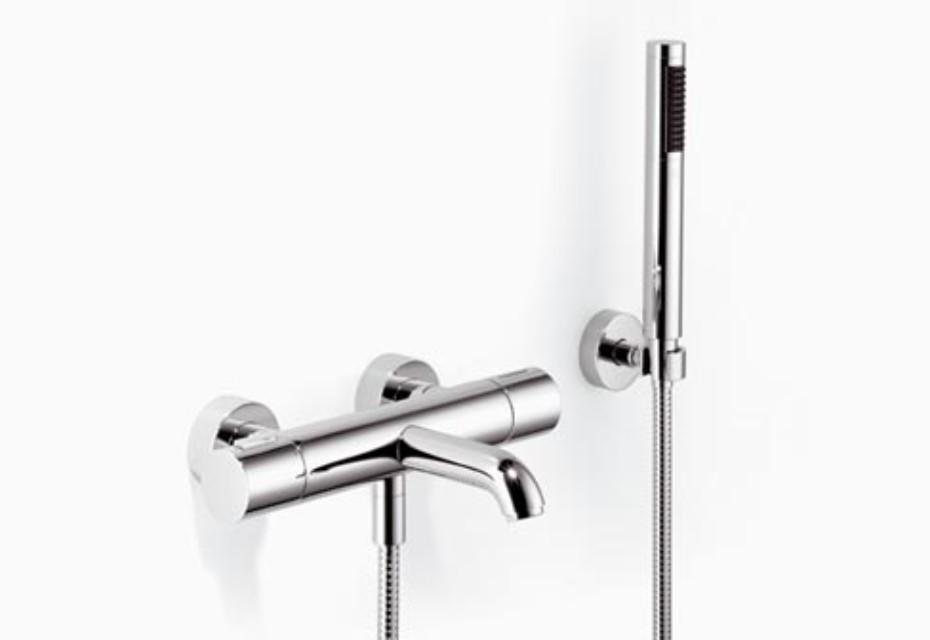 Meta.02 Wall-mounted single-lever bath mixer with/without shower set