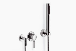 Meta.02 Wall-mounted single-lever shower mixer with complete hand shower set, three pieces  by  Dornbracht