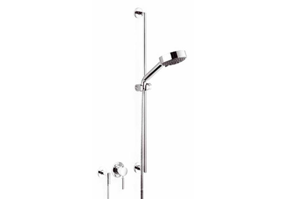 Meta.02 Wall-mounted single-lever shower mixer with shower set, three pieces