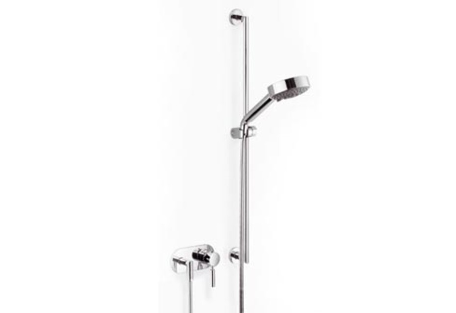 Meta.02 wall-mounted single-lever shower mixer with shower set