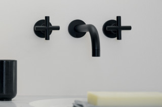 Tara black wall-mounted basin mixer  by  Dornbracht