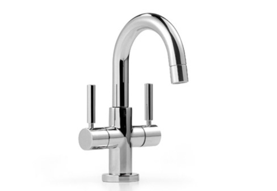 Tara single-hole basin mixer, 105 mm projection