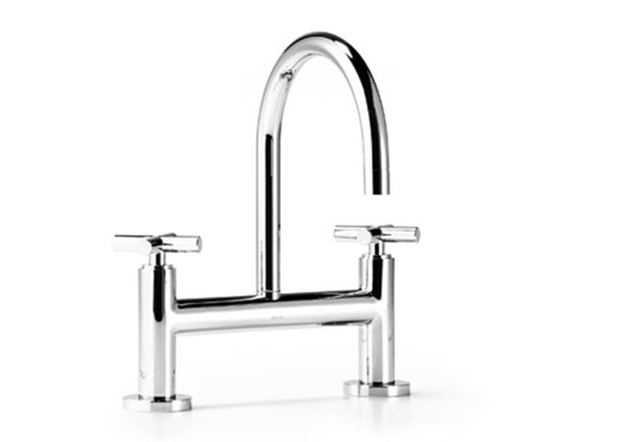 Tara two-hole basin bridge mixer, 165/200 mm projection