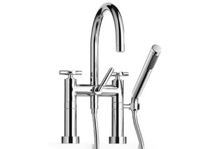 Tara two-hole bath mixer with stand feet and cross handles  by  Dornbracht