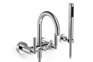 Tara wall-mounted bath mixer with/without shower set  by  Dornbracht