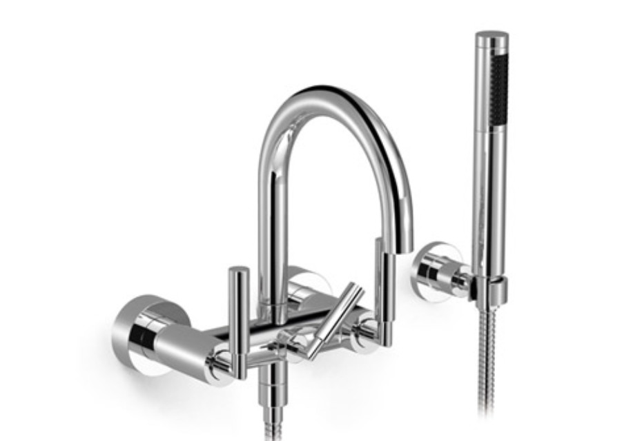 Tara wall-mounted bath mixer with/without shower set