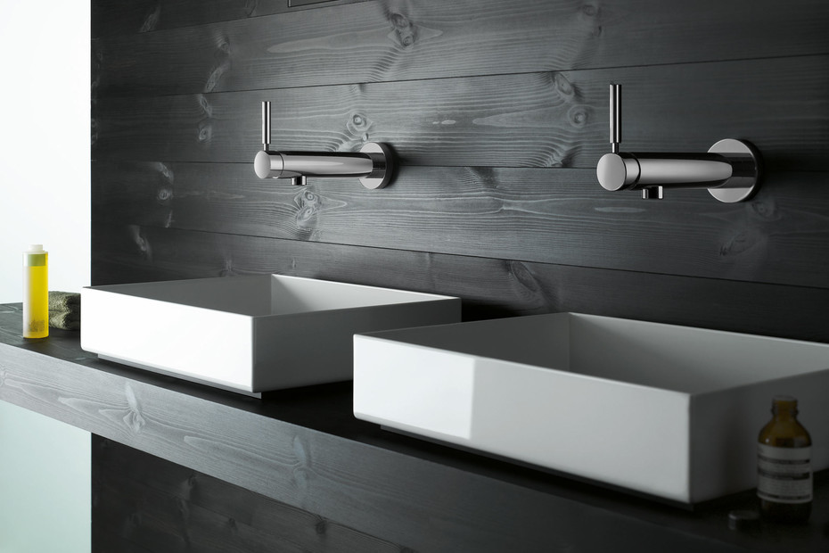 TARA. LOGIC wall-mounted single-lever basin mixer with single point attachment