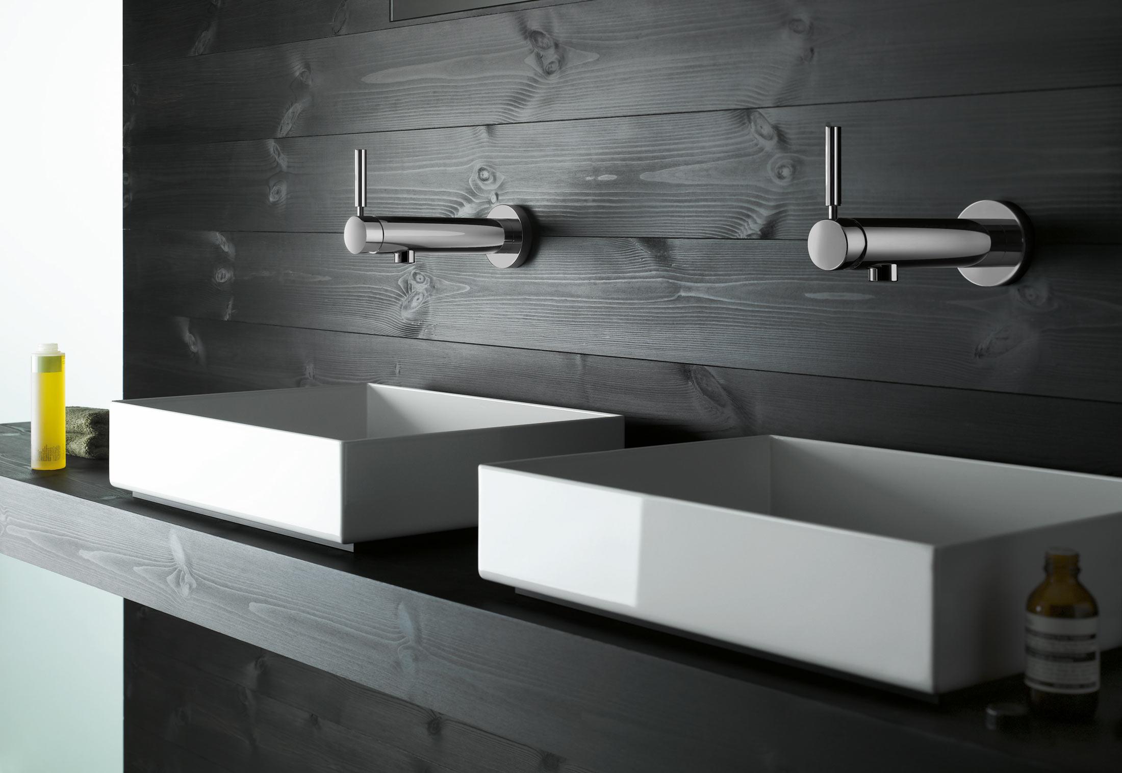 Badarmaturen wandmontage  TARA. LOGIC Waschtisch-Wand-Einhandbatterie mit Einpunktbefestigung ...