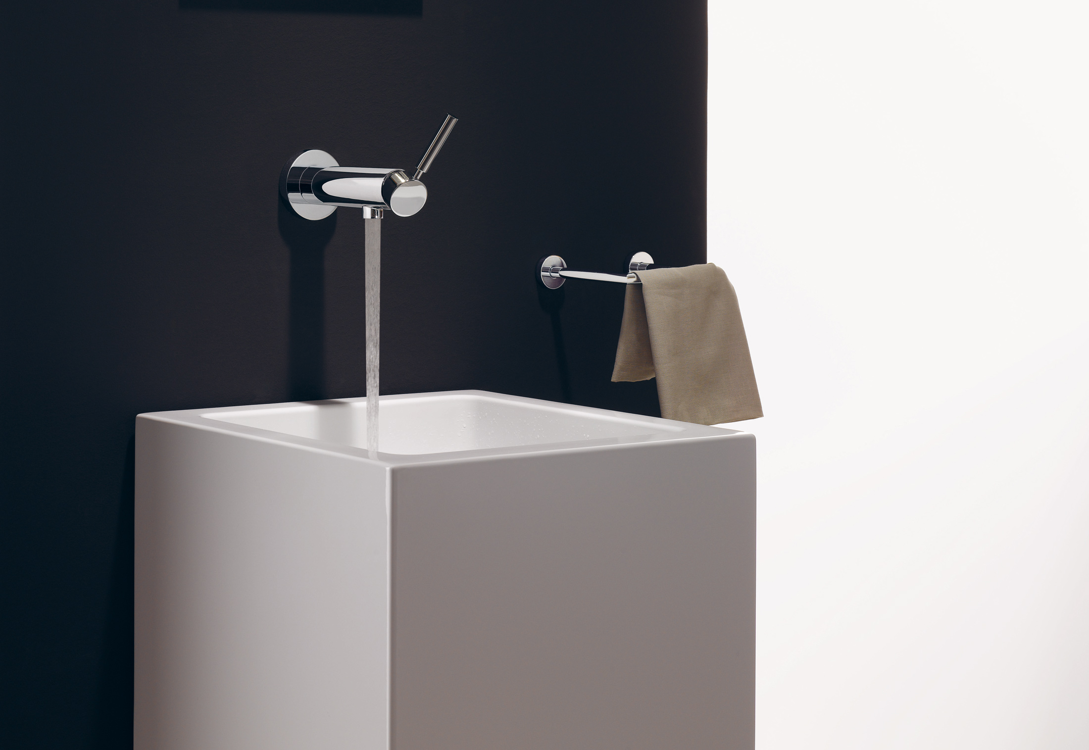 Tara Logic Wall Mounted Single Lever Basin Mixer With