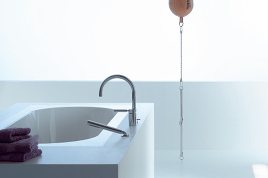 TARA.LOGIC Three-hole single-lever bath mixer with/without cover plate