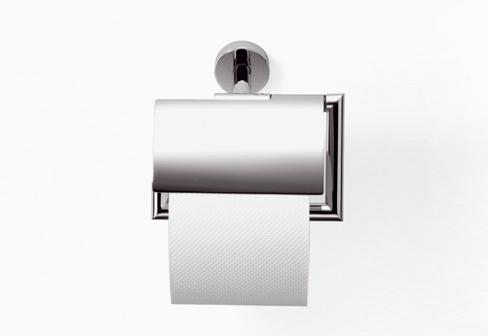 LOGIC Tissue holder with cover. TARA LOGIC Tissue holder with cover by Dornbracht   STYLEPARK