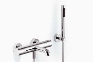 TARA.LOGIC Wall-mounted single-lever bath mixer with/without shower set, rotary handle  by  Dornbracht