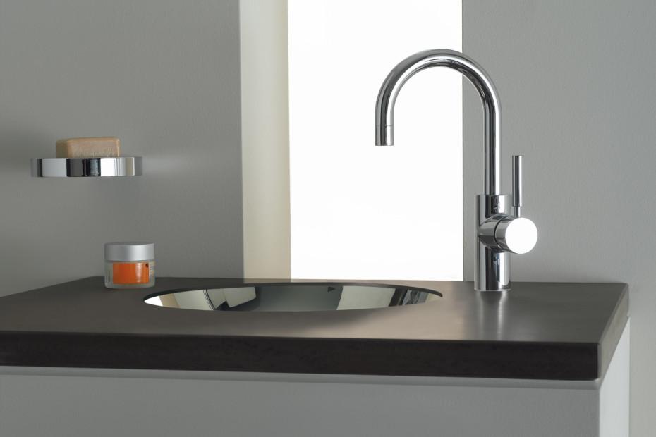 TARA.LOGIC Waschtisch-Einhandbatterie mit Ablaufgarnitur