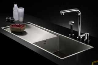 Water Unit single-basin with drip-dry surface  by  Dornbracht