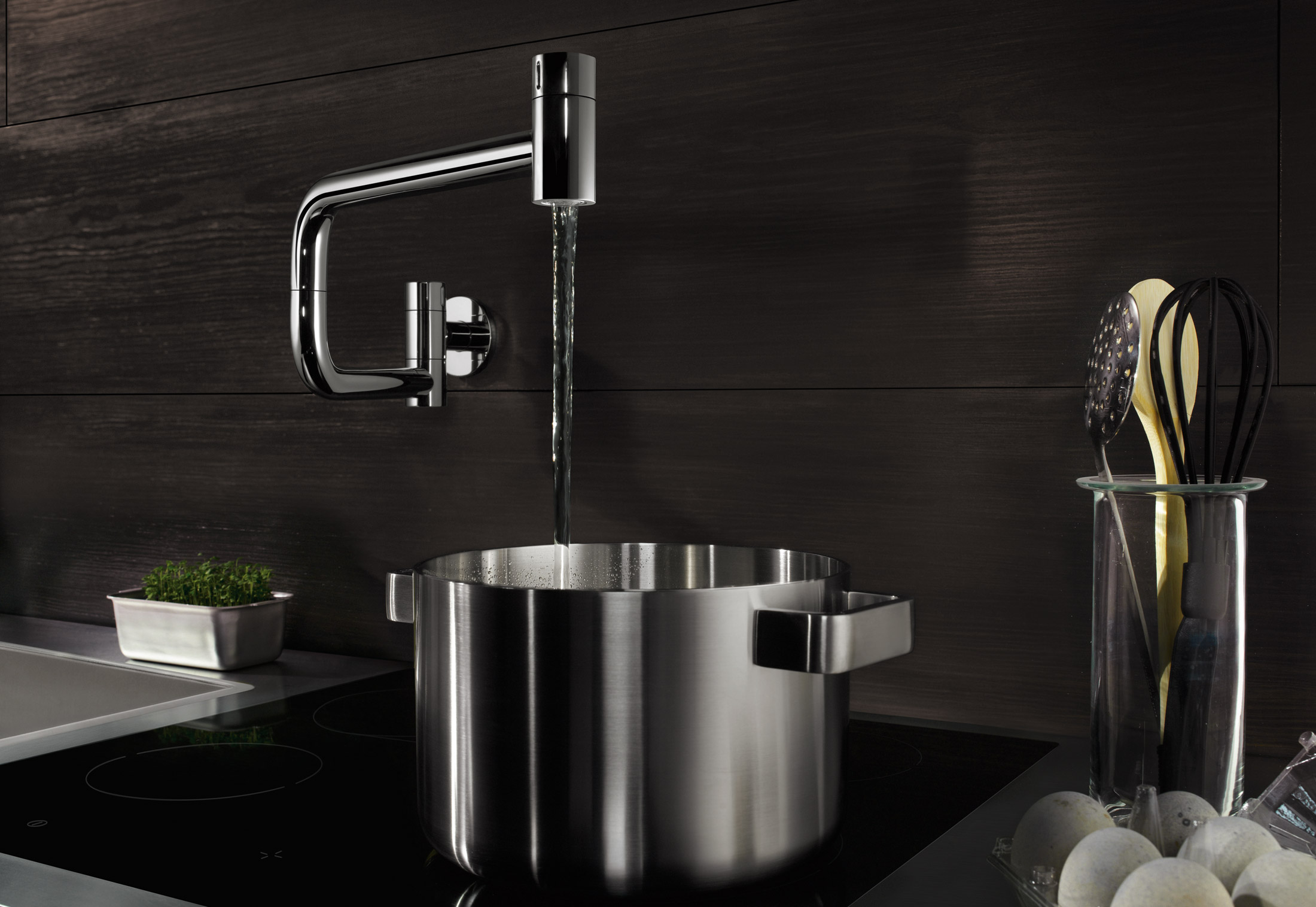 water zones tara ultra pot filler by dornbracht stylepark. Black Bedroom Furniture Sets. Home Design Ideas