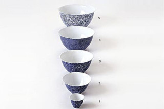 THE WHITE SNOW BLUE BOWLS  by  Driade