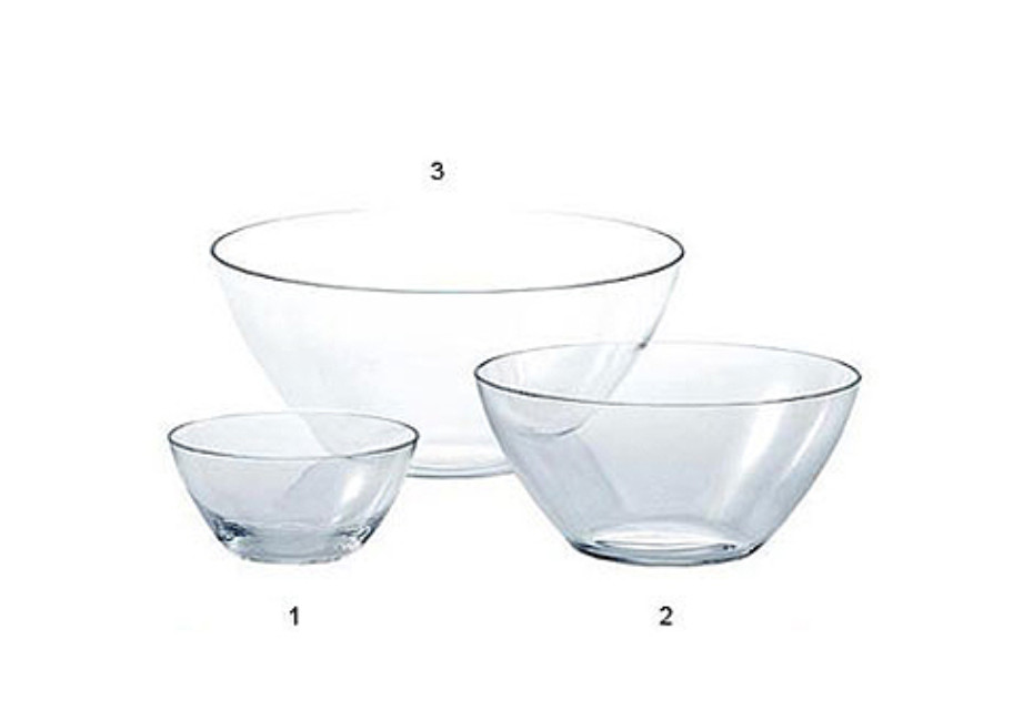 THE WHITE SNOW GLASS BOWLS