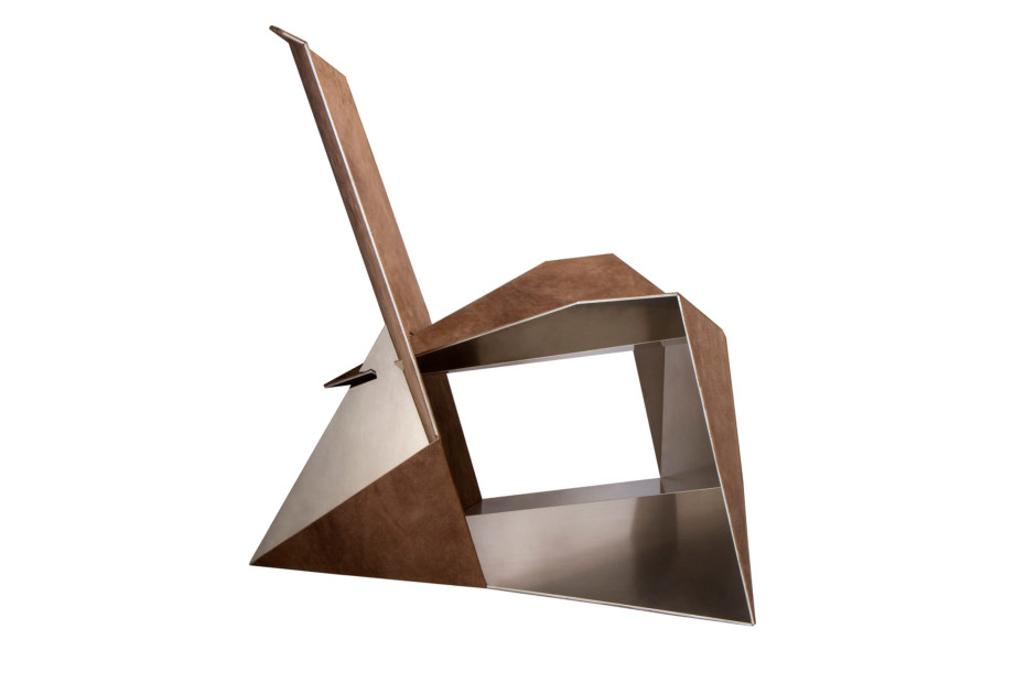 Folded lounge chair