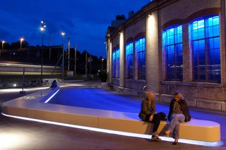 DuPont™ Corian® bench, Winterthur  by  DuPont™ Corian®