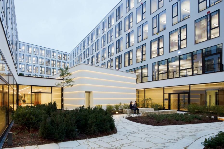 DuPont™ Corian® facade panels ICADE Premier House