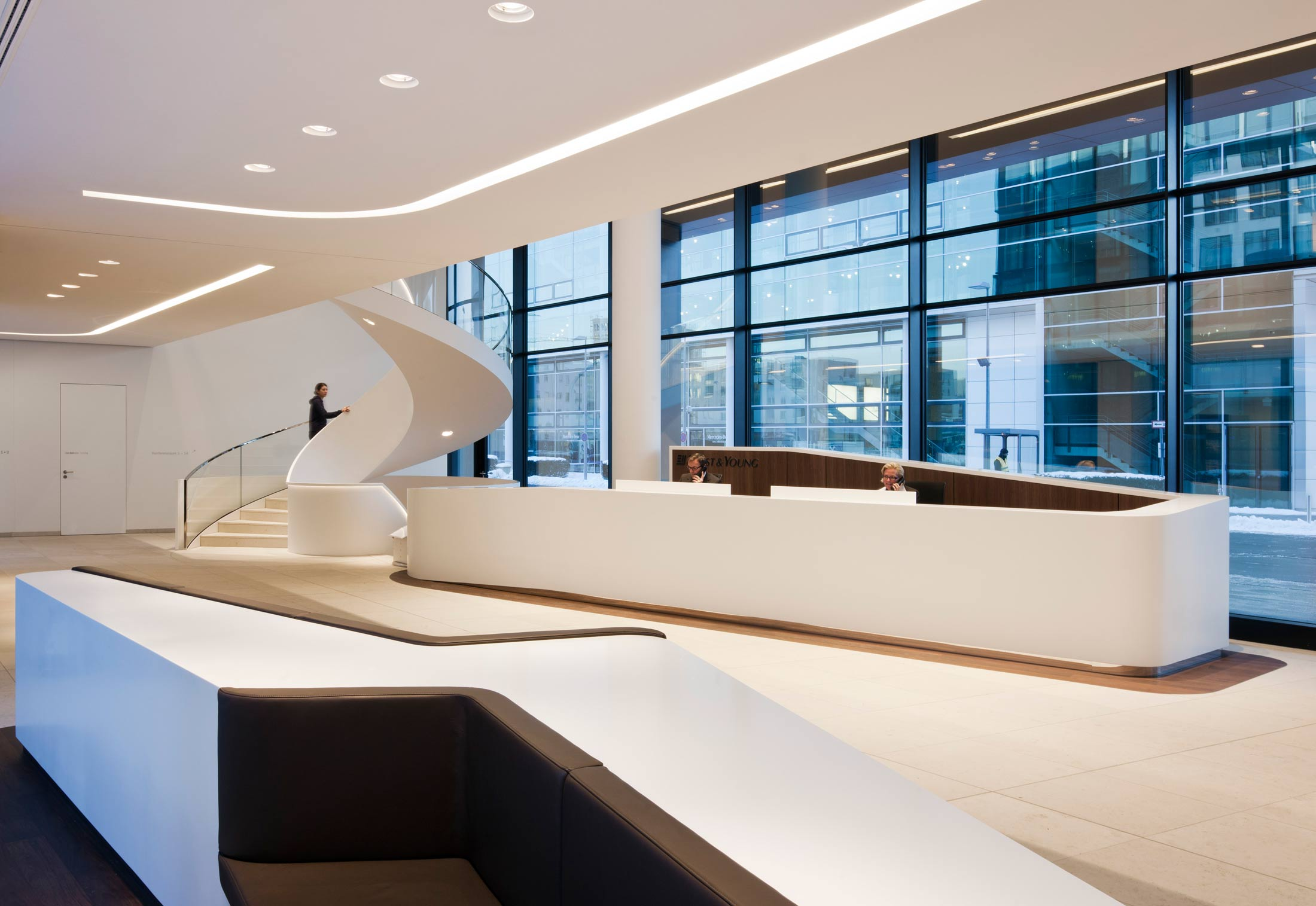DuPont™ Corian® wall panels ICADE Premier House, Munich by DuPont ...