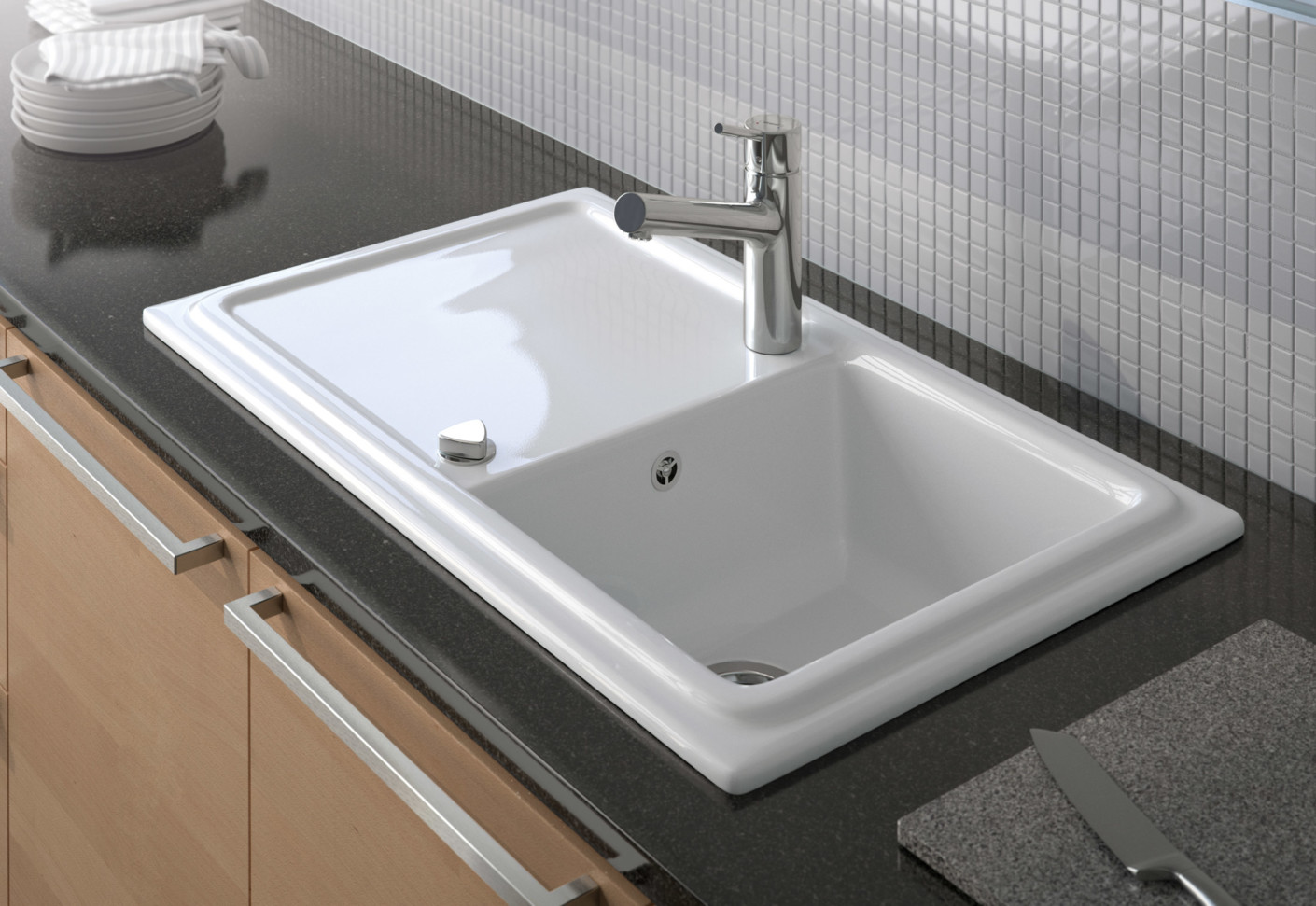 Duravit Bathroom Sink Cassia Kitchen Sink By Duravit Stylepark