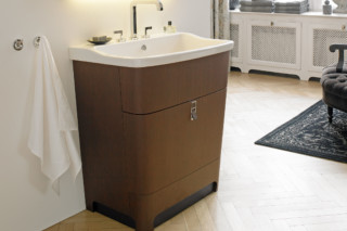 Esplanade washing table small oak  by  Duravit