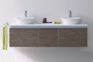 Everybody's darling double washstand with board  by  Duravit